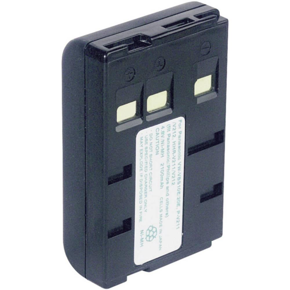 Akumulator za kamero Conrad energy nadomestek za originalni akumulator P-V211, P-V22, VW-VBS10E, VW-VBS20E 4.8 V 1800 mAh