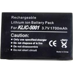 Kamerabatteri Conrad energy Ersättning originalbatteri KLIC-5001 3.7 V 1500 mAh