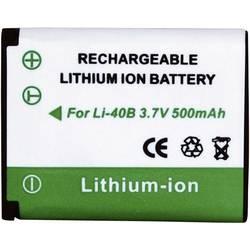 Kamera-batteri Conrad energy Erstatter original-batteri LI-40B, LI-42B, EN-EL10 3.7 V 500 mAh
