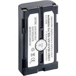 Kamerabatteri Conrad energy Ersättning originalbatteri BN-V812, VW-VBD1 7.2 V 2000 mAh