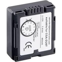 Kamerabatteri Conrad energy Ersättning originalbatteri CGA-DU 14E, CGA-DU 1B, CGA-DU 07, CP-861 7.2 V 600 mAh