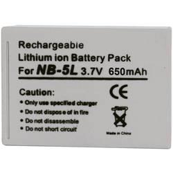 Kamerabatteri Conrad energy Ersättning originalbatteri NB-5L 3.7 V 1120 mAh