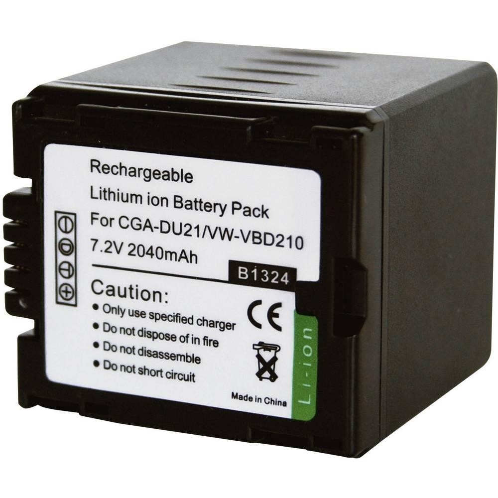 Akumulator za kamero Conrad energy nadomestek za originalni akumulator CGA-DU21E 7.2 V 1800 mAh