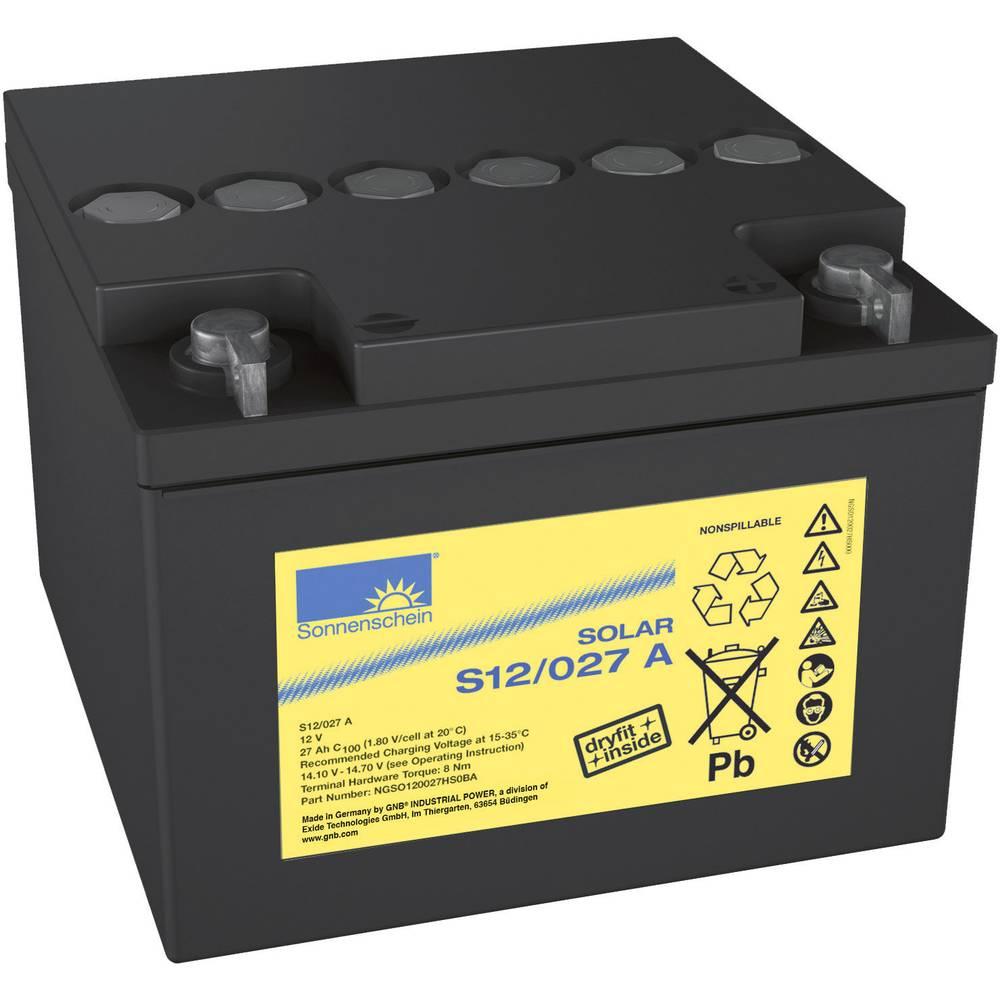 Solarni akumulator 12 V 27 Ah GNB Sonnenschein 8819861000 svinčevo-gelni 176 x 126 x 167 mm M5-vijačni priklop