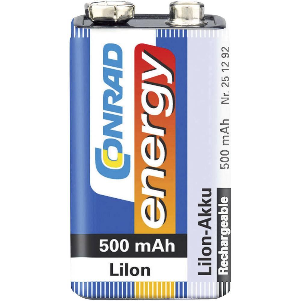 9 V blok baterija 6LR61 Conrad energy litij-ionska 500 mAh 7.2 V 1 kom.