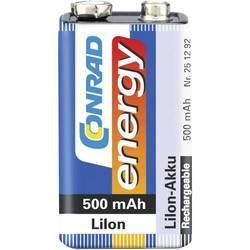 9 V Block akumulator Li-Ion Conrad energy 6LR61 500 mAh 7.2 V 1 kos