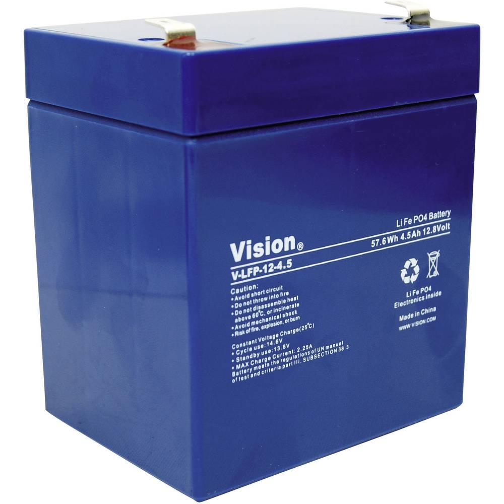 LiFePO4 akumulator Vision 12 V 4, 5 Ah (D x Š x V) 90 x 70 x 101 mm