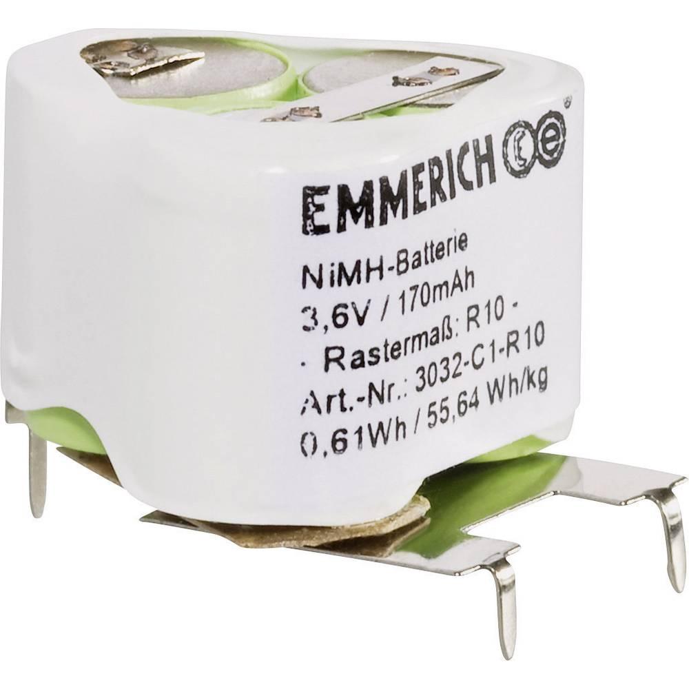 NiMH specialni akumulatorski komplet Emmerich R10 3.6 V SLF 170 mAh (D x Š x V) 25 x 21 x 18 mm