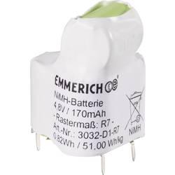 Batteripack 4x Special-ackumulator;U-lödstift;NiMH;Emmerich;3032-D1-R7;4.8 V;170 mAh