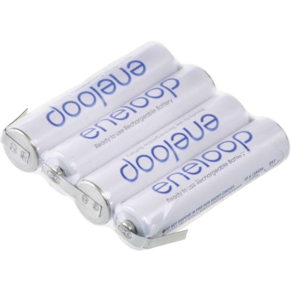 Akumulatorski paket Eneloop Micro 4, 8 V, Z-spajkalni priključek 800 mAh (D x Š x V) 42 x 10.5 x 44.5 mm