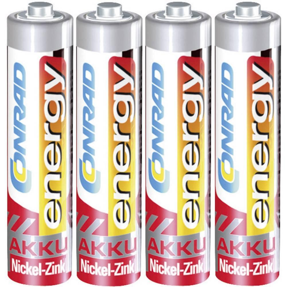 Mikro (AAA) baterija na punjenje NiZn Conrad energy HR03 550 mAh 1.6 V 4 kom.