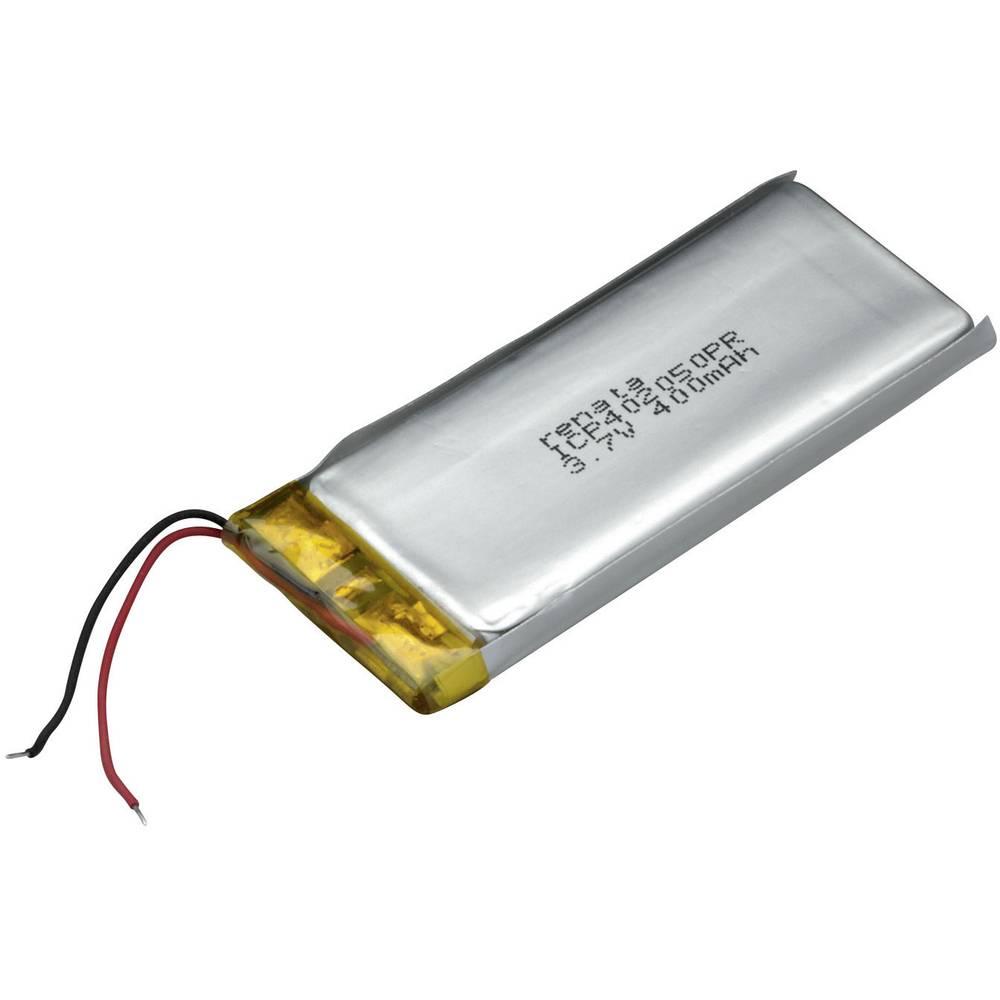 LiPo-akumulator Renata ICP402050PR, 3, 7 V, 420 mAh, ICP052153, (D x Š x V) 52.5 x 20.7 x 4.5 mm 100649