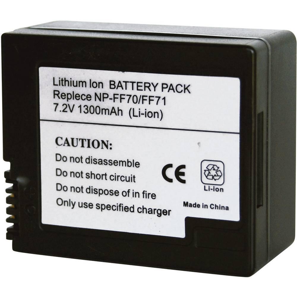Kamera-batteri Conrad energy Erstatter original-batteri NP-FF70, NP-FF71 7.2 V 1200 mAh
