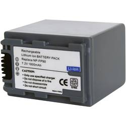 Kamera-batteri Conrad energy Erstatter original-batteri NP-FP90 7.2 V 1600 mAh