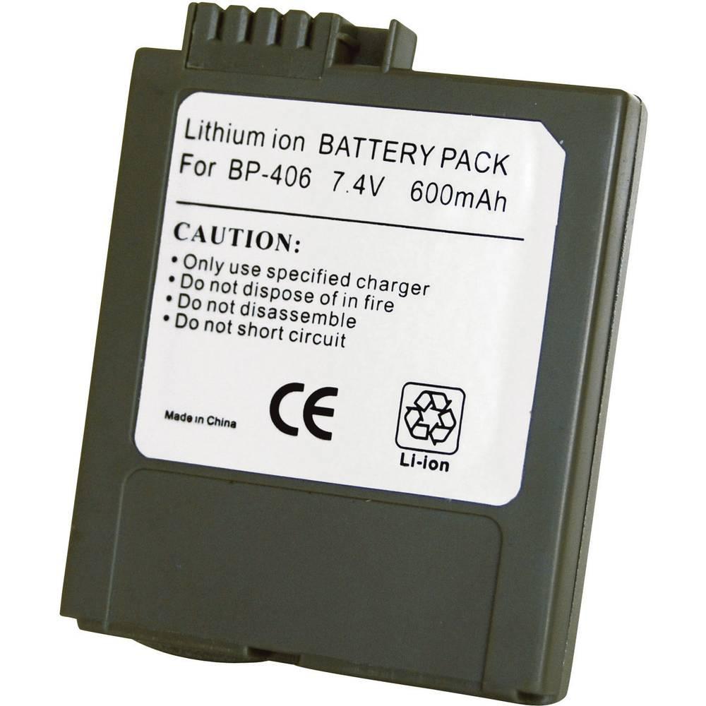 Baterija za kameru Conrad energy 7.4 V 600 mAh zamjenjuje originalnu bateriju BP-406