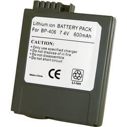 Kamerabatteri Conrad energy Ersättning originalbatteri BP-406 7.4 V 600 mAh