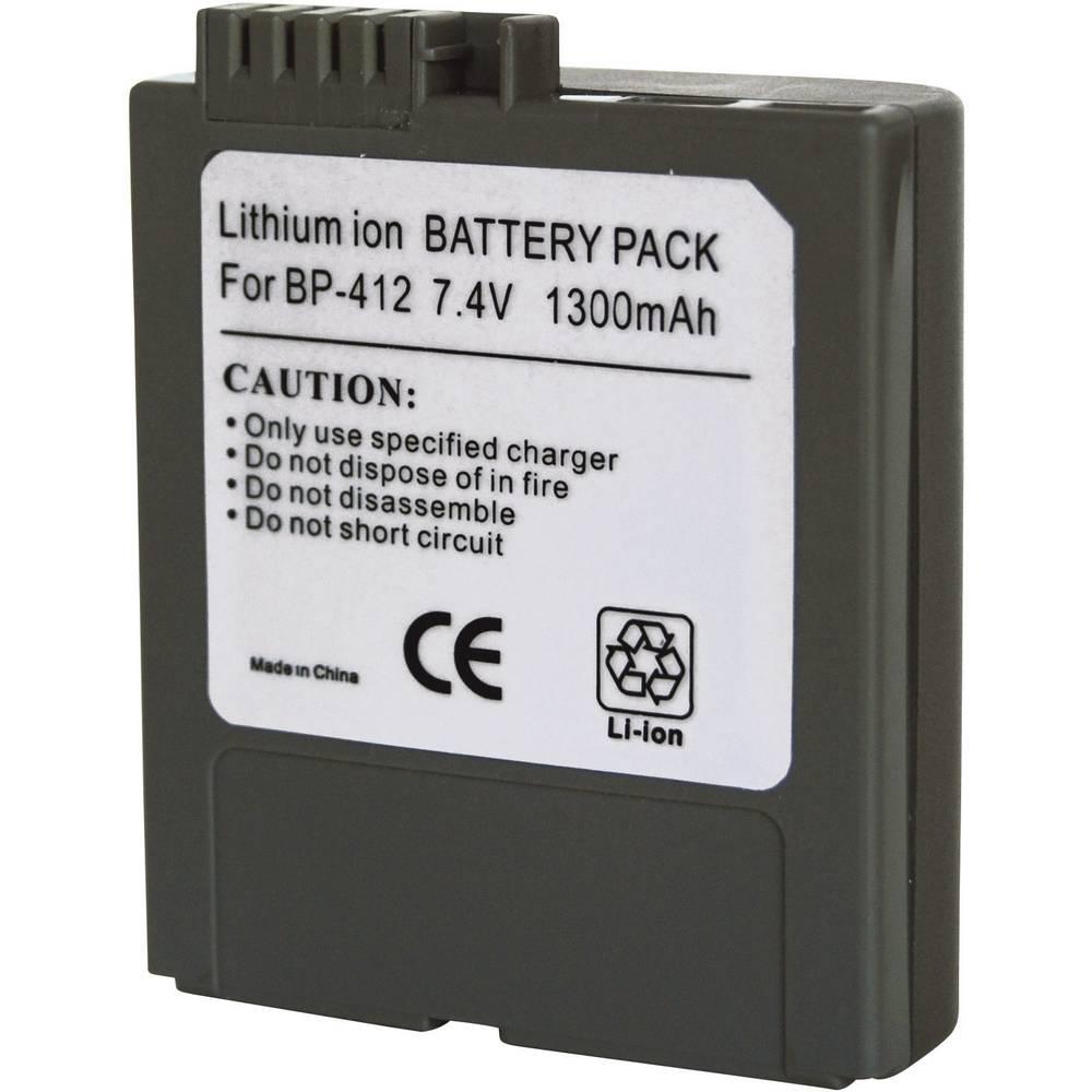 Baterija za kameru Conrad energy 7.4 V 1300 mAh zamjenjuje originalnu bateriju BP-412