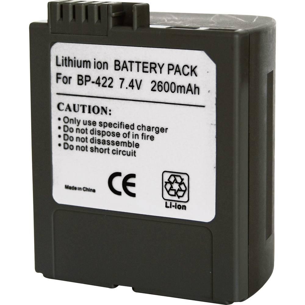Baterija za kameru Conrad energy 7.4 V 2600 mAh zamjenjuje originalnu bateriju BP-422