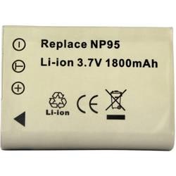 Kamerabatteri Conrad energy Ersättning originalbatteri NP-95 3.7 V 1500 mAh