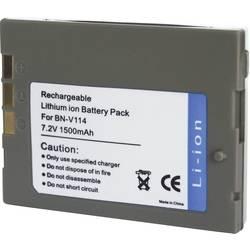 Kamerabatteri Conrad energy Ersättning originalbatteri BN-V114 7.2 V 1400 mAh