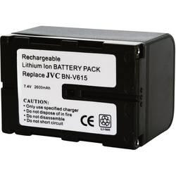 Kamerabatteri Conrad energy Ersättning originalbatteri BN-V615 7.2 V 2600 mAh