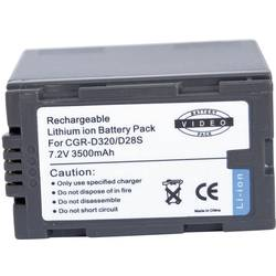 Kamerabatteri Conrad energy Ersättning originalbatteri CGR-D815 7.2 V 6000 mAh