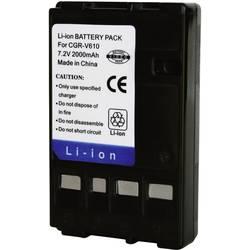 Kamerabatteri Conrad energy Ersättning originalbatteri CGR-V610 7.2 V 2000 mAh