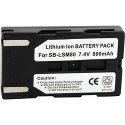 Akumulator za kamero Conrad energy nadomestek za originalni akumulator SB-LSM80 7.4 V 700 mAh