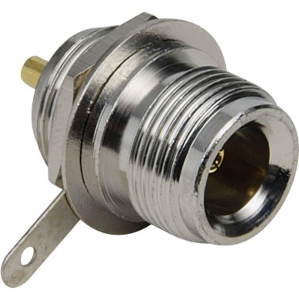 N-stikforbindelse BKL Electronic 0404026 50 Ohm Tilslutning, indbygning lodret 1 stk