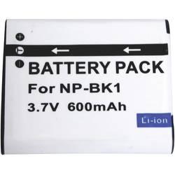 Kamerabatteri Conrad energy Ersättning originalbatteri NP-BK1 3.6 V 600 mAh