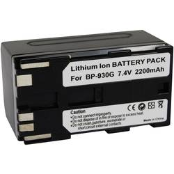 Kamerabatteri Conrad energy Ersättning originalbatteri BP-930G 7.4 V 2200 mAh