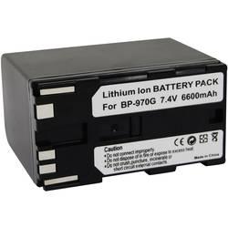 Kamerabatteri Conrad energy Ersättning originalbatteri BP-970G 7.4 V 6600 mAh