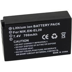 Akumulator za kamero Conrad energy nadomestek za originalni akumulator EN-EL20 7.4 V 700 mAh