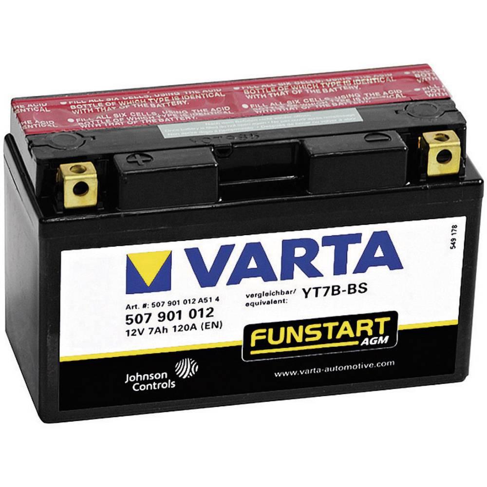 VARTA Akumulator za motorna kolesa YT7B-4 / -BS 507901012 12 V 7 Ah Y11 za motorna kolesa, štirikolesnike, Jet Ski, motorne sani