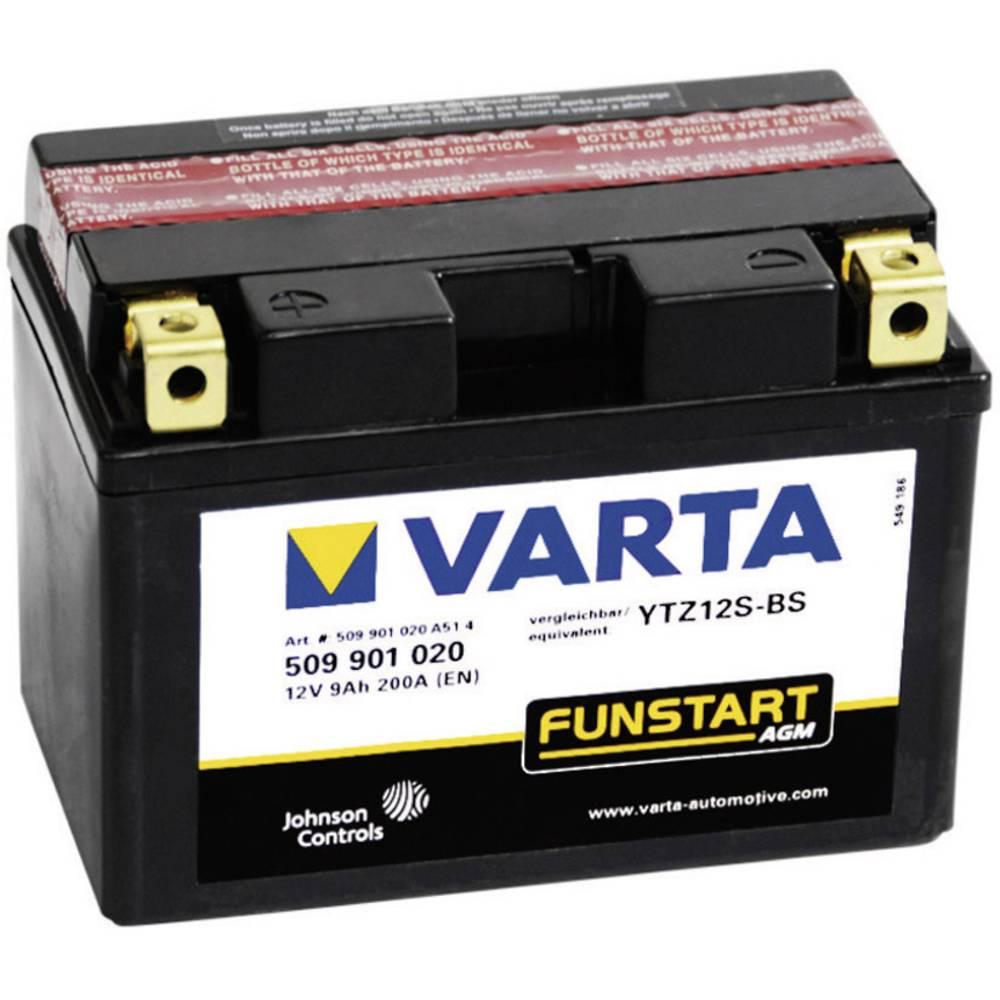 VARTA Akumulator za motorna kolesa YTZ12S-4 / -BS 509901020 12 V 9 Ah Y11 za motorna kolesa, štirikolesnike, Jet Ski, motorne sa