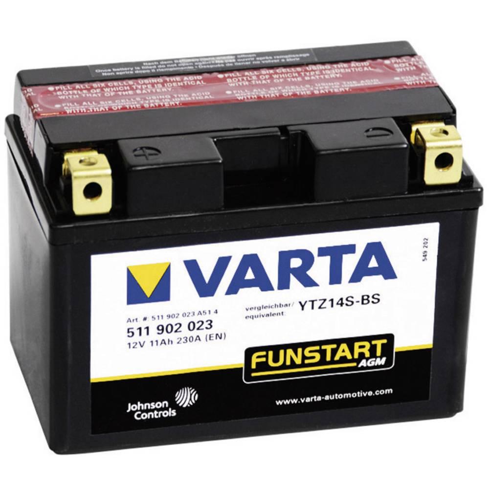 VARTA Akumulator za motorna kolesa YTZ14S-4 / -BS 511902023 12 V 11 Ah Y11 za motorna kolesa, štirikolesnike, Jet Ski, motorne s