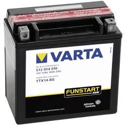 VARTA Akumulator za motorna kolesa YTX14-4 / -BS 512014010 12 V 12 Ah Y5 za motorna kolesa, štirikolesnike, Jet Ski, motorne san