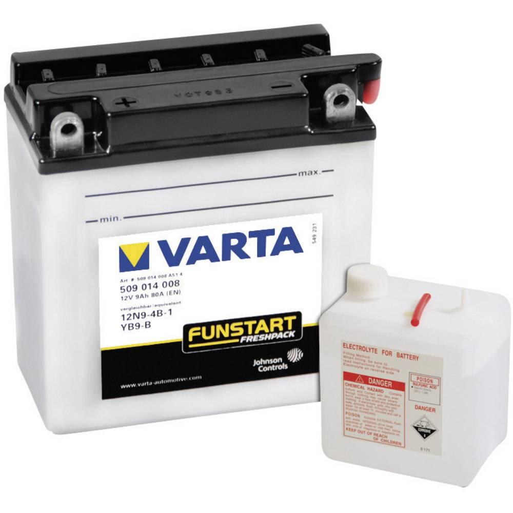 VARTA Akumulator za motorna kolesa 12N9-4B-1, YB9-B 509014008 12 V 9 Ah Y6 za motorna kolesa, skuterje, štirikolesnike, Jet Ski,