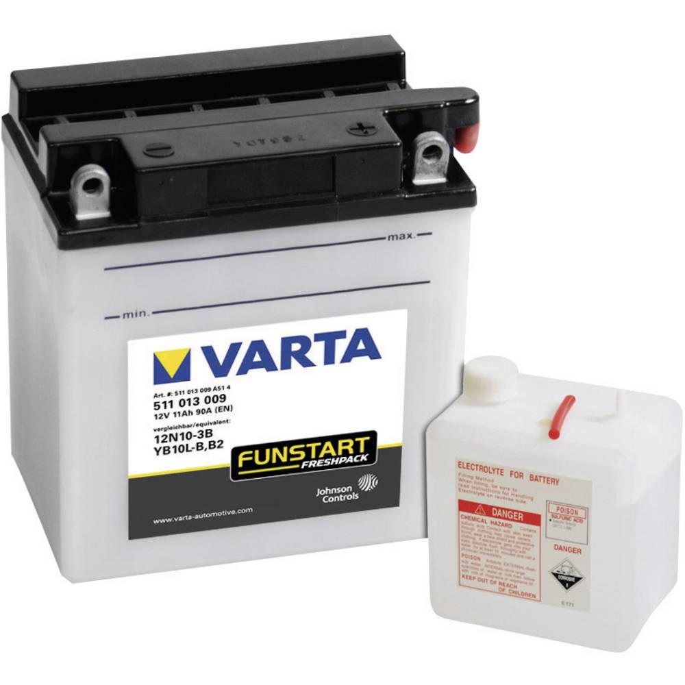 VARTA Akumulator za motorna kolesa 12N10-3B, YB10L-B 511013009 12 V 11 Ah Y8 za motorna kolesa, skuterje, štirikolesnike, Jet Sk
