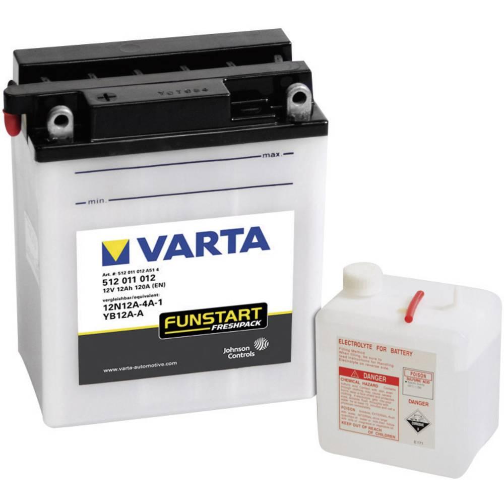 VARTA Akumulator za motorna kolesa 12N12A-4A-1, YB12A-A 512011012 12 V 12 Ah Y6 za motorna kolesa, skuterje, štirikolesnike, Jet