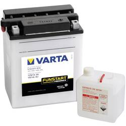 VARTA Akumulator za motorna kolesa 12N14-3A, YB14L-A2 514011014 12 V 14 Ah Y8 za motorna kolesa, skuterje, štirikolesnike, Jet S