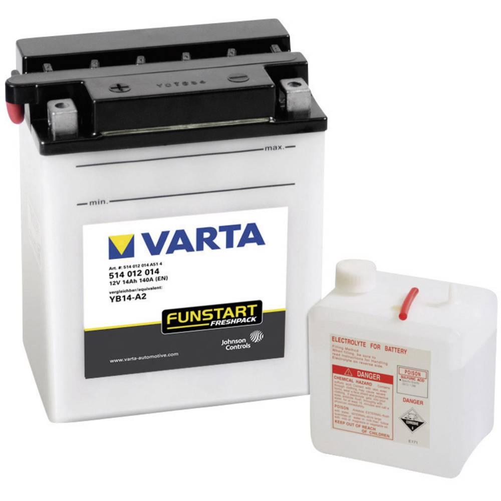 VARTA Akumulator za motorna kolesa YB14-A2 514012014 12 V 14 Ah Y8 za motorna kolesa, skuterje, štirikolesnike, Jet Ski, motorne