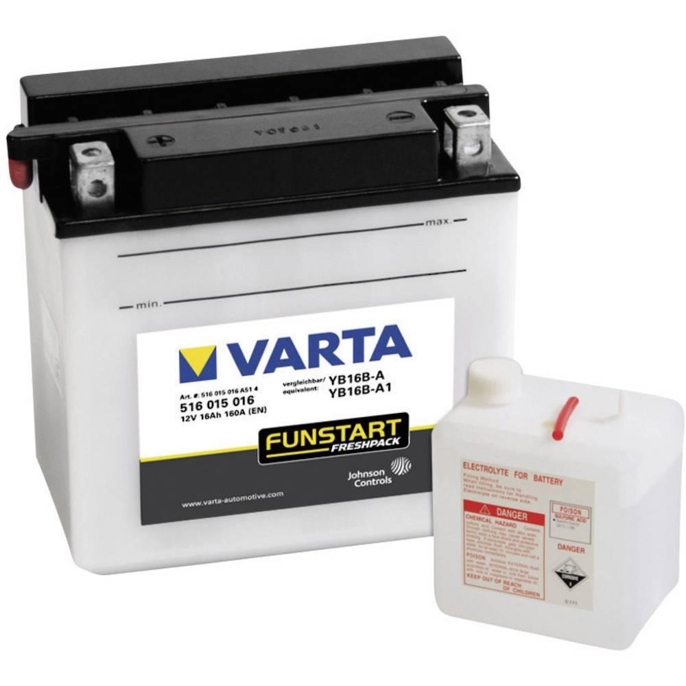 VARTA Akumulator za motorna kolesa YB16B-A1 516015016 12 V 16 Ah Y4 za motorna kolesa, skuterje, štirikolesnike, Jet Ski, motorn