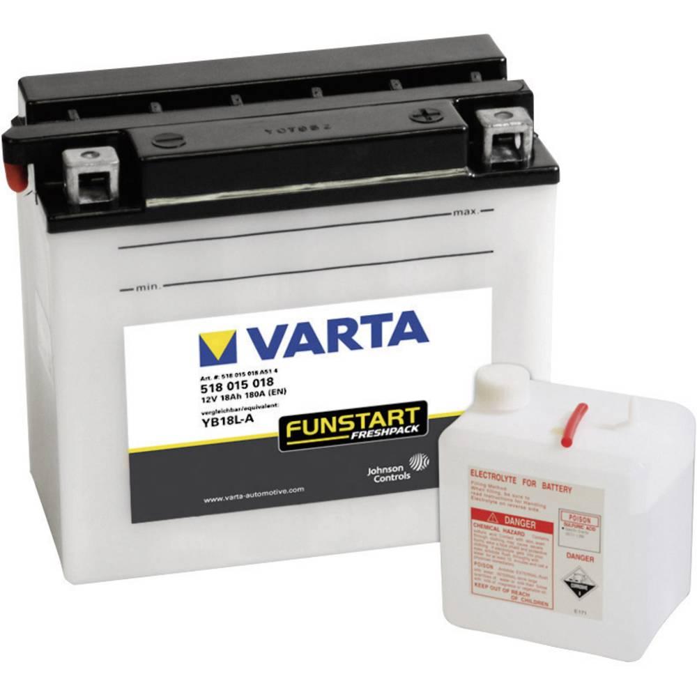 VARTA Akumulator za motorna kolesa YB18L-A 518015018 12 V 18 Ah Y7 za motorna kolesa, skuterje, štirikolesnike, Jet Ski, motorne