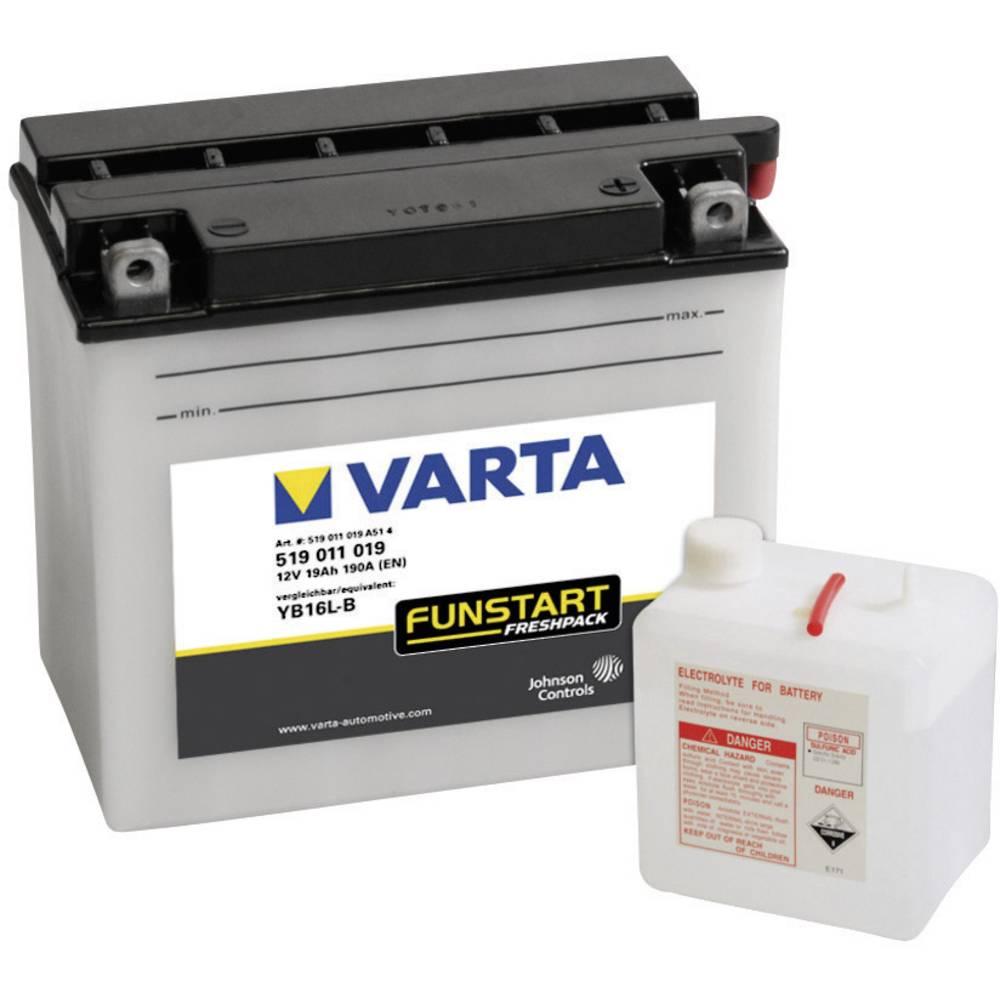 VARTA Akumulator za motorna kolesa YB16L-B 519011019 12 V 19 Ah Y6 za motorna kolesa, skuterje, štirikolesnike, Jet Ski, motorne