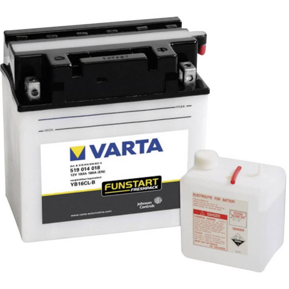 VARTA Akumulator za motorna kolesa YB16CL-B 519014018 12 V 19 Ah Y5 za motorna kolesa, skuterje, štirikolesnike, Jet Ski, motorn