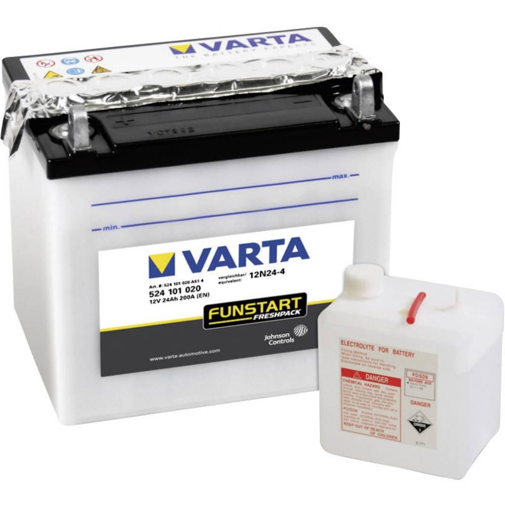 VARTA Akumulator za motorna kolesa 12N24-4 524101020 12 V 24 Ah Y3 za motorna kolesa, skuterje, štirikolesnike, Jet Ski, motorne
