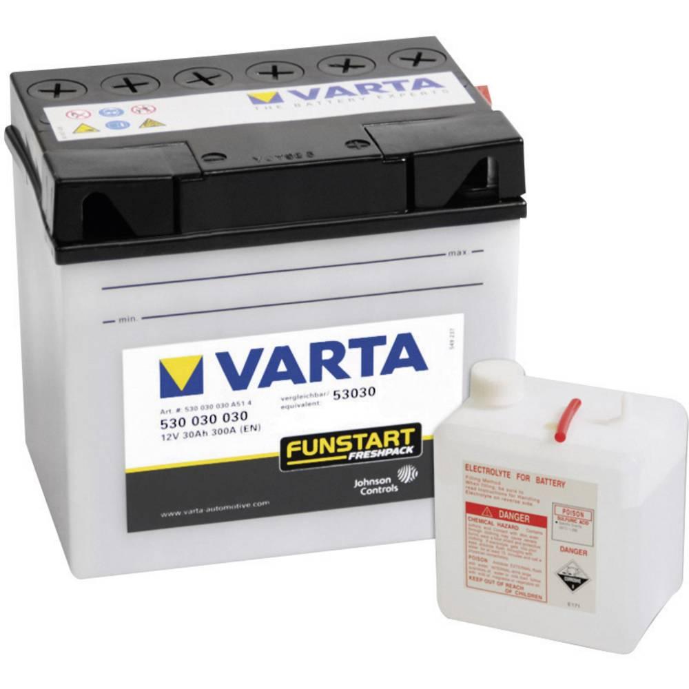 VARTA Akumulator za motorna kolesa 53030 530030030 12 V 30 Ah Y10 za motorna kolesa, skuterje, štirikolesnike, Jet Ski, motorne