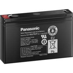 Svinčev akumulator 6 V 7.2 Ah Panasonic 6 V 7, 2 Ah LC-R067R2P svinčevo-koprenast (AGM) 151 x 94 x 34 mm ploščati vtič 4.8 mm
