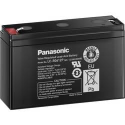 Svinčev akumulator 6 V 12 Ah Panasonic 6 V 12 Ah LC-R0612P svinčevo-koprenast (AGM) 151 x 94 x 50 mm ploščati vtič 4.8 mm